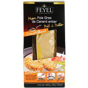 Foie gras de canard entier prêt à poêler croustillant