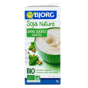 Bjorg Soja nature sans sucres ajoutés bio