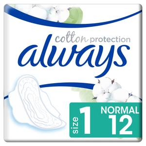 Always Serviettes avec ailettes taille 1- Always Cotton Protection Ultra Normal