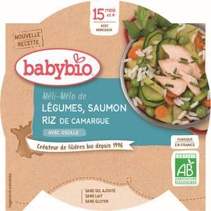 Babybio Méli-Mélo de légumes au saumon riz bio, dès 15 mois