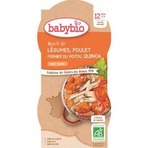 Babybio Mitonné de légumes au poulet fermier et quinoa bio dès 12 mois