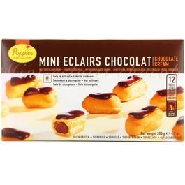 12 Minis éclairs pâtissiers chocolat ,CLAIR,200g