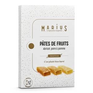 Marius, L'Épicerie Inspirée  Pâte de fruits poire/abricot/pomme de Provence