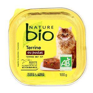 Nature Bio Terrine au poulet pour chat bio