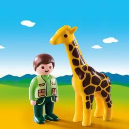PLAYMOBIL® 1.2.3 Soigneur avec girafe