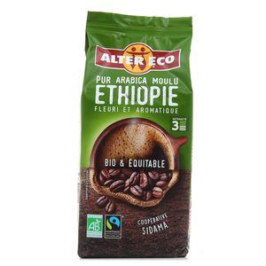 Alter Eco - Commerce Equitable Café pur arabica moulu d'Ethiopie bio