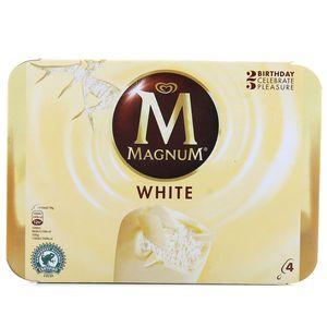 Magnum 4 b tonnets chocolat blanc 4x110ml 4x79g - Magnum chocolat blanc ...