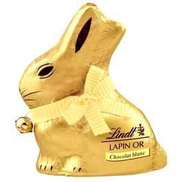 Lindt Lapin or au chocolat blanc