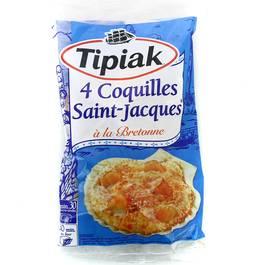 Tipiak 4 coquilles saint jacques la bretonne 360g - Coquille saint jacques bretonne champignons ...
