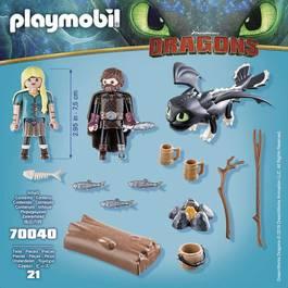 PLAYMOBIL® Dragons Harold et Astrid avec bébé dragon