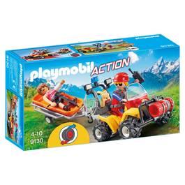 PLAYMOBIL® Action Secouriste des montagnes avec quad