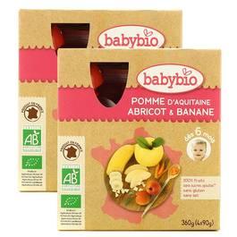 Babybio Gourde pomme d'Aquitaine, abricot, banane bio, dès 12 mois