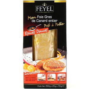 Foie gras de canard entier prêt à poêler épices douces
