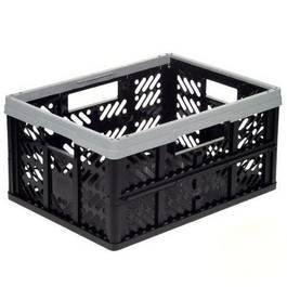 okt casier pliant noir et gris 32l. Black Bedroom Furniture Sets. Home Design Ideas