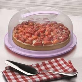The Kitchenette Boite de conservation gâteau avec poignée transport