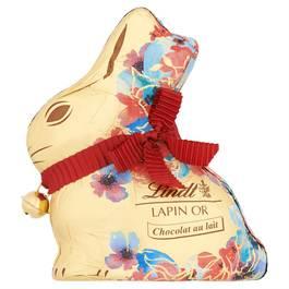 Lindt Lapin or fleurs chocolat au lait