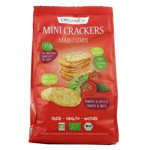 Organica Mini crackers maïs bio tomate basilic