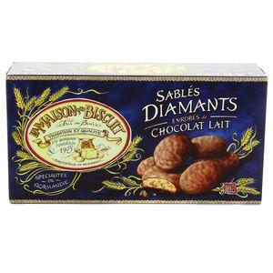 La Maison Du Biscuit Sablés diamants enrobés de chocolat lait