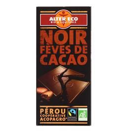 Alter Eco - Commerce Equitable Chocolat noir éclats de fèves de cacao, bio