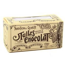 La Maison Du Biscuit Ballotin de tuiles chocolat panaché lait/noir