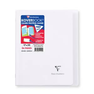 Clairefontaine Cahier Kover Book 17 x 22 cm grands carreaux incolore