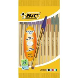 Bic Stylos bille cristal couleurs assorties