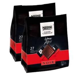nestl233 grand chocolat carr233s noir intense 70 lot de 2