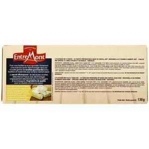 Entremont 10 Mini Toasts du fromager- Cantal AOP, Mozzarella et Fourme d'Ambert AOP