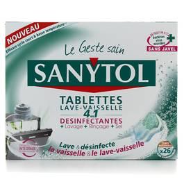 tablettes capsules sanytol comparez vos produits vaisselle au meilleur prix chez shoptimise. Black Bedroom Furniture Sets. Home Design Ideas
