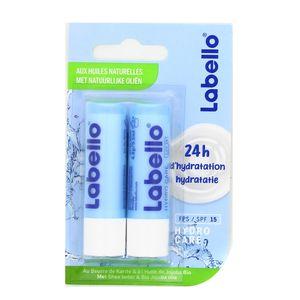 Labello Baume lèvres - Duo - Hydro care aux huiles naturelles