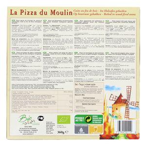 La Pizza du Moulin Pizza Bûche de chèvre bio cuite au feu de bois