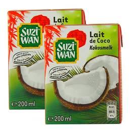Lait de noix coco, Lot de 2 briquettes de ,SUZI WAN,