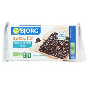 Bjorg Galettes de riz chocolat noir coco bio