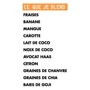 Blend my day Smoothie snack NO BOTOX FOR ME - prêt-à-mixer- Carotte, Noix de coco, Chia