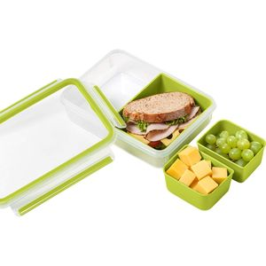 Emsa Boite snack rect. Clip&Go 3 compartiments