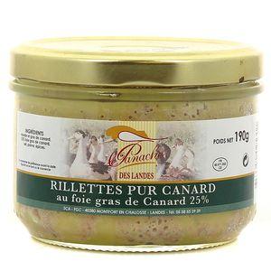 Panache Des Landes Rillettes pur canard au foie gras de canard 25%