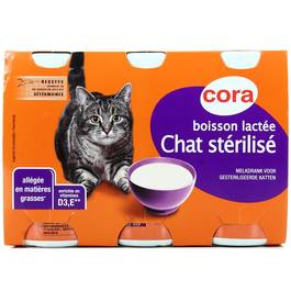 Cora Boisson lactée pour chat stérilisé