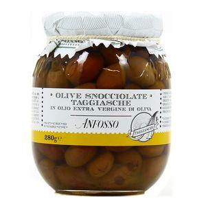 Anfosso Olives vertes dénoyautées Taggiasche