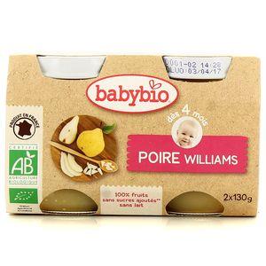 Babybio Poire Williams bio, dès 4 mois