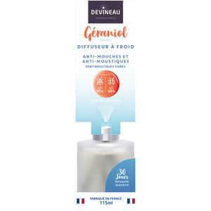 Devineau Diffuseur de parfum Géraniol Anti mouches et moustiques
