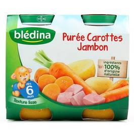 Blédina Purée Carottes Jambon dès 6 mois