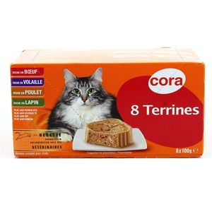Cora 8 terrines pour chat