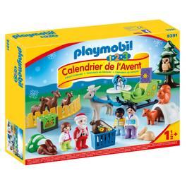 PLAYMOBIL® 1.2.3 Calendrier de l'Avent Père Noël animaux forêt