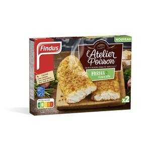 Findus 2 Colins d'Alaska MSC qualité 100% filet aux Herbes et Ail