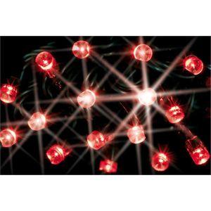 Cora guirlande lectrique ext rieure rouge 180 lampes led - Guirlande electrique exterieure ...