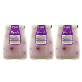 la ferme du man ge yaourt myrtille au lait entier lot de 3x180g. Black Bedroom Furniture Sets. Home Design Ideas