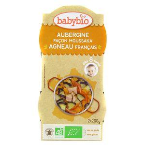 Babybio - Menu Du Jour Moussaka d'agneau au parmesan Bio dès 8 mois