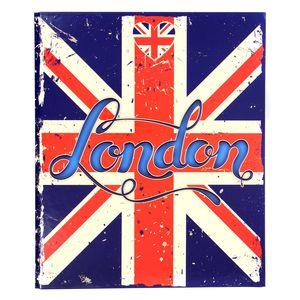 Classeur rigide dos 40 mm London Flag pour feuilles 21 x 29,7 cm