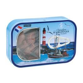 Chevalier D Argouges Boîte à sardine friture en chocolat au lait 33% de cacao