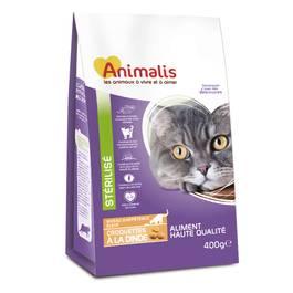 Animalis Aliments pour chats stérilisés -  Croquettes à la dinde